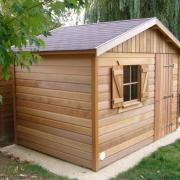 Abri de jardin en bois avec bardage Red-Cedar