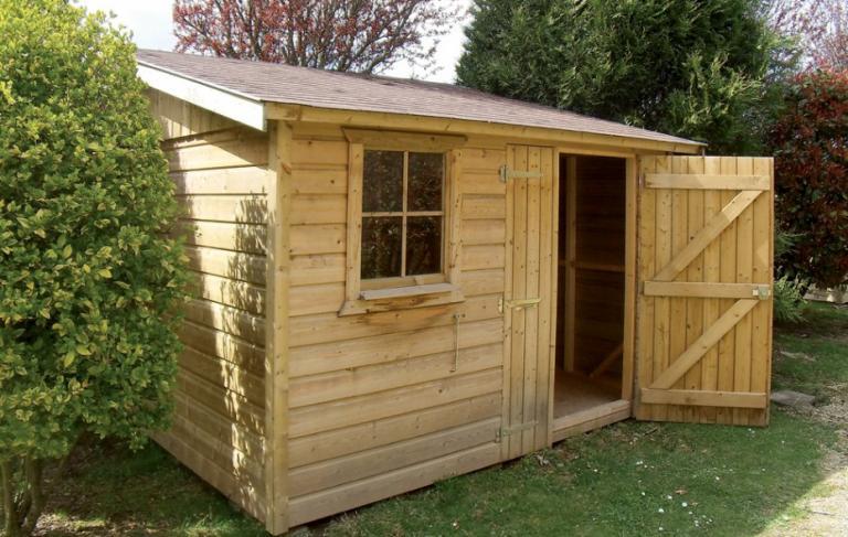 Abri jardin fabriqué en ossature bois