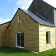agrandissement fabrique en ossature bois plus garage