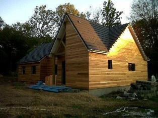 Maison construite en ossature bois sur mesure