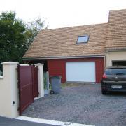 Extension de garage et auvent en bois