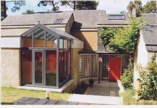 Photo d'une extension moderne de maison