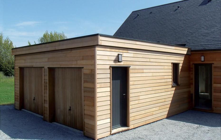 Garage En Ossature Bois Construit Contre Une Maison