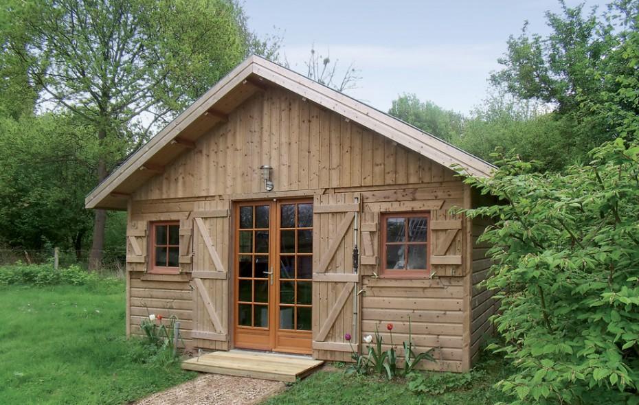 Grand abri de jardin en ossature bois