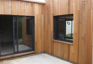 extension r alis e en ossature bois par maison eco malin. Black Bedroom Furniture Sets. Home Design Ideas