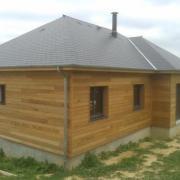 Maison construite sur sous sol en ossature bois