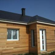 Maison construite en bois de plain pied