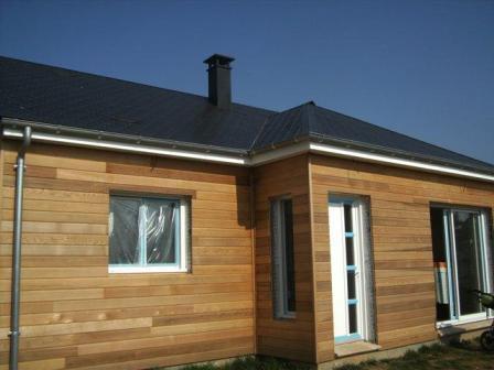 Maison construite en ossature bois de plain pied