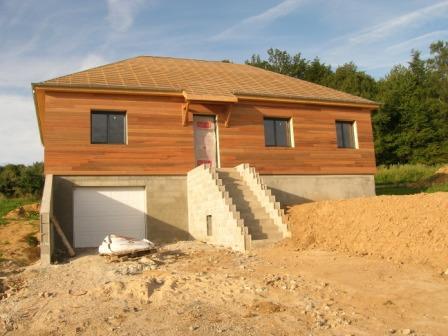 Maison ossature bois construite sur sous-sol