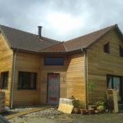 Maison en bois contruite à Saint léger en Yvelines