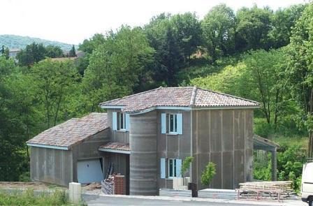 Maison ossature métallique en construction