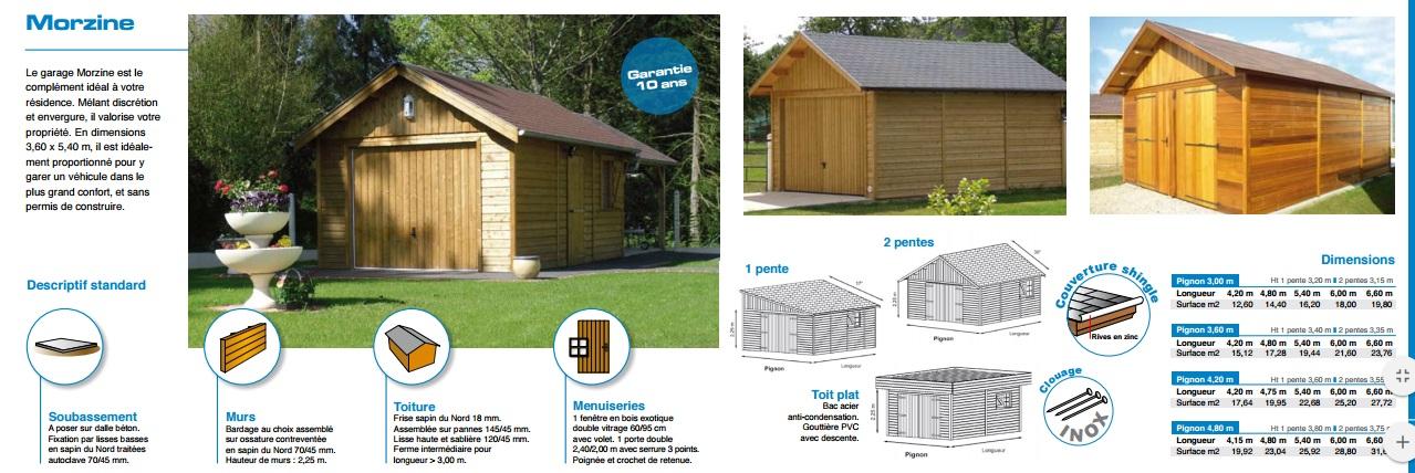 morzine garage ossature bois 23587 - Permis De Construire Garage En Bois
