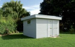 Abri de jardin toit plat