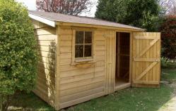 Abri jardin fabrique en ossature bois