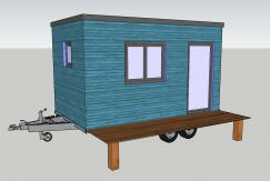 Agrandissement de maison transportable plan de couleurs