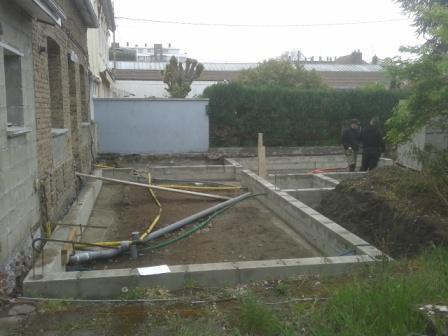 Terrassement Vide Sanitaire Pour Agrandissement Maison à Rouen Extension De  Maison Les Fondations 1 Agrandissement Maison Fondations 1
