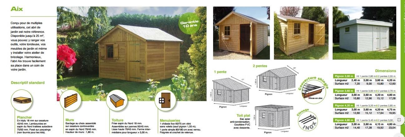 Fabricant d abris de jardin en bois en normandie - Abri de jardin ossature bois ...