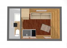 Aménagement intérieur agrandissement roulant coin cuisine et salon