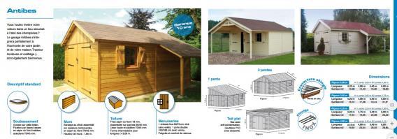 Antibes garage fabrique en ossature bois