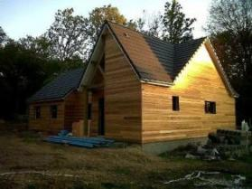 Bardage sur maison bois