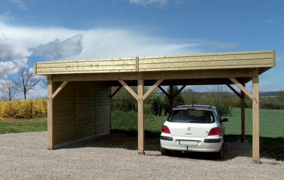 Carport fabrique en bois