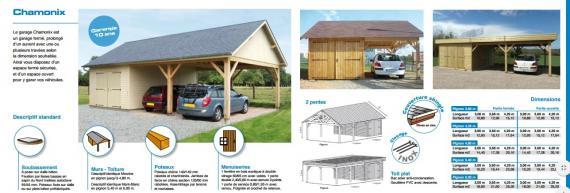 Chamonix garage fabriqué en ossature bois