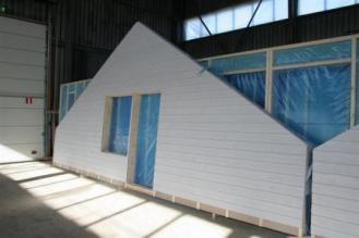 Construction du kit murr ossature bois avec bardage
