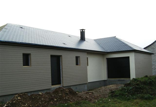 Maison construite en ossature bois avec bardage de couleur ~ Bardage Bois Maison