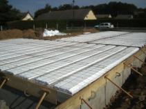 Construction maison en bois isolation dalle du vide sanitaire 1