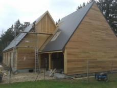 Construction maison en bois ossature bois bardage reed cedar eure et loir