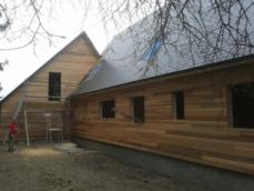 Construction maison en bois ossature bois construite en eure et loir dreux 1