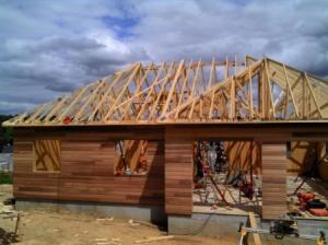 Construction maison ossature bois sur sous sol