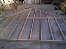 Construction ossature bois pignon de maison