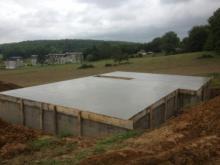 Coullage dalle beton pour maison bois