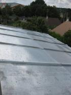 Couverture en zinc sur toit agrandissement