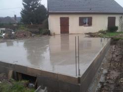 Dalle beton du vide sanitaire