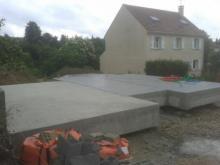 Dalle beton pour maison dans les yvelines