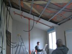 Doublage en placo des murs interieurs