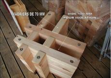 Double madrier pour construction maison bois massif chalet 1