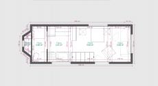 Exemple de plan d avant projet d'intérieur d une tiny house