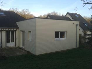 Extension pavillon construit en ossature bois 1