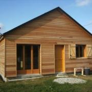 Fin de la construction de cette petite maison en ossature bois