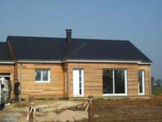 Fin de la construction de cette maison ossature bois