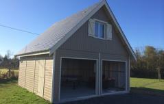 Garage avec étage aménage fabrique en ossature bois