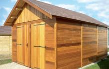 Garage bois modele morzine