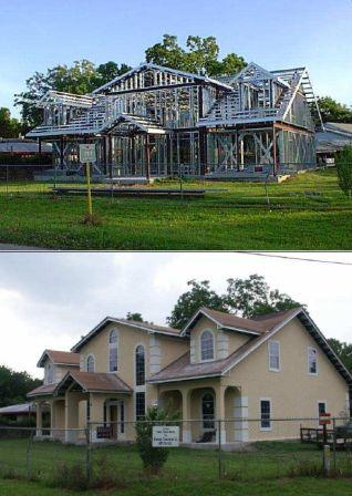 Montage et assemblage d 39 une maison ossature metallique - Maison a ossature metallique prix ...