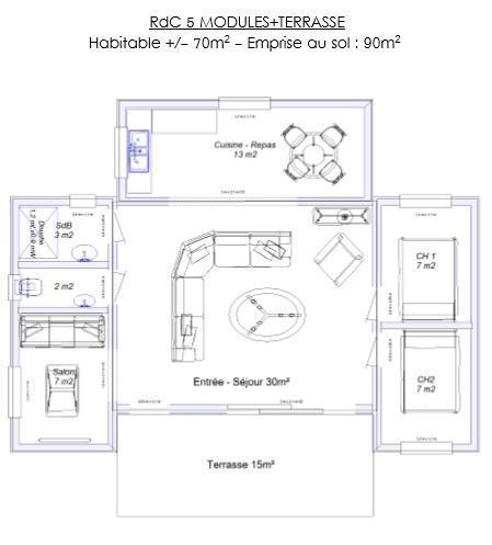 hll mod le haiti construit en ossature bois. Black Bedroom Furniture Sets. Home Design Ideas
