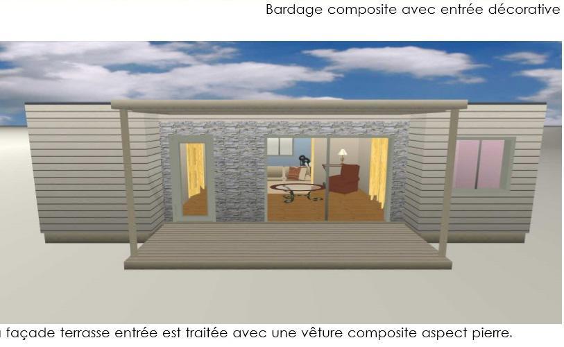 Hll mod le haiti construit en ossature bois for Habillage facade pierre