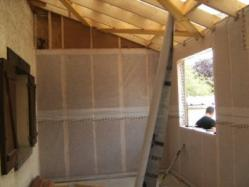 Isolation d une maison construite en ossature bois 1