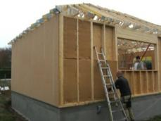 Isolation de l ossature sur maison bois construite a evreux 1